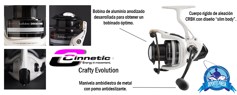carrete cinnetic crafty evolution