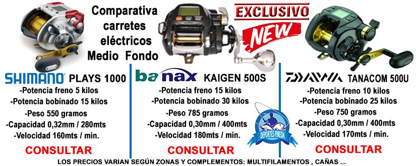 carretes electricos, carretes Kaigen, 500s